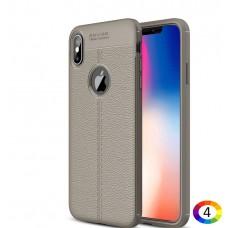 Apple iPhone XS Max Удароустойчив Litchi Skin Калъф и Протектор