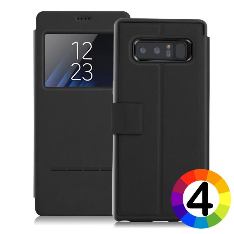 Samsung Galaxy Note 8 SM-N950 Window Кожен Калъф и Протектор