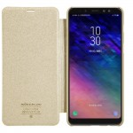 Samsung Galaxy A8 Plus (2018) Nillkin Кожен Калъф и Протектор