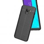 Samsung Galaxy J6 (2018) Удароустойчив Litchi Skin Калъф и Протектор