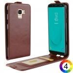 Samsung Galaxy J6 (2018) Flip3 Кожен Калъф и Скрийн Протектор