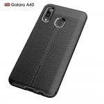 Samsung Galaxy A40  Удароустойчив Litchi Skin Калъф и Протектор