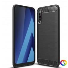 Samsung Galaxy A70 Удароустойчив Carbon Fiber Калъф и Протектор