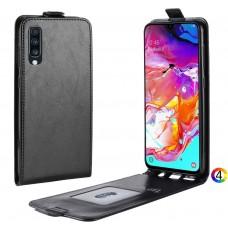 Samsung Galaxy A70 Flip3 Кожен Калъф и Скрийн Протектор