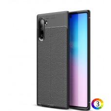 Samsung Galaxy Note 10/Note10 Удароустойчив Litchi Skin Калъф и Протектор