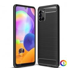 Samsung Galaxy A31 Удароустойчив Carbon Fiber Калъф и Протектор