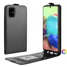 Samsung Galaxy A71 5G SM-A716 Flip3 Кожен Калъф и Протектор