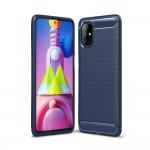 Samsung Galaxy M51 Удароустойчив Carbon Fiber Калъф и Протектор