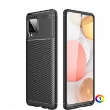 Samsung Galaxy A42 5G Удароустойчив Carbon Fiber Калъф и Протектор