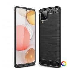 Samsung Galaxy A12 Удароустойчив Carbon Fiber Калъф и Протектор