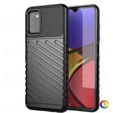 Samsung Galaxy A03s Удароустойчив Twill Texture Калъф и Протектор