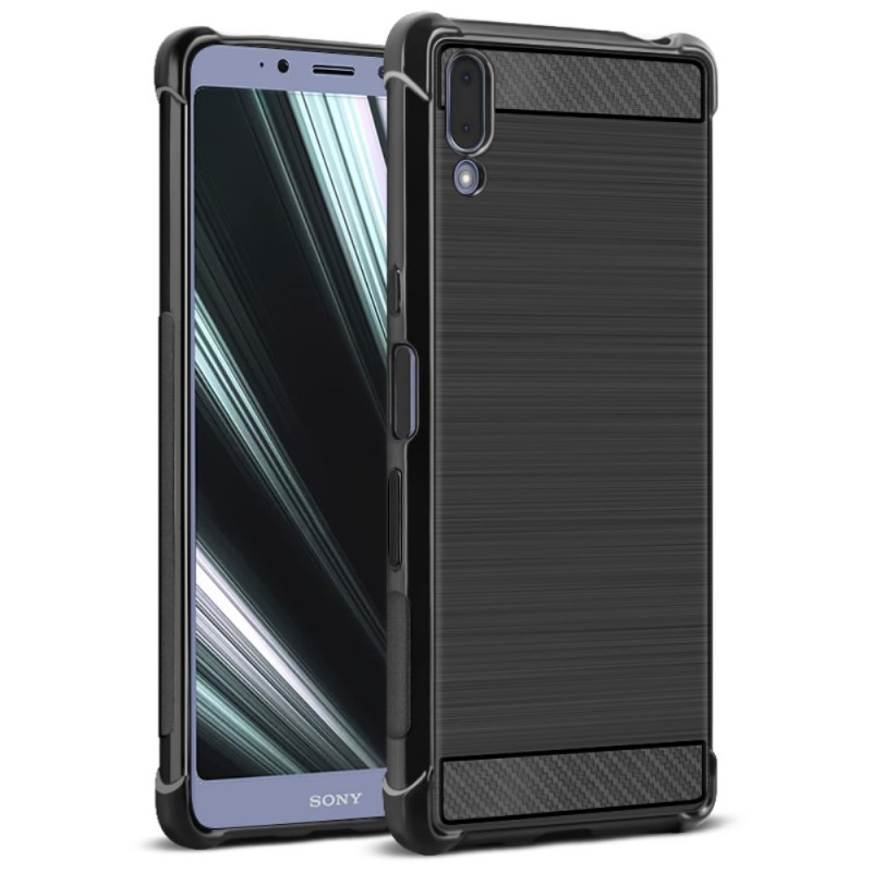 Sony Xperia L3 IMAK Удароустойчув Силиконов Калъф и Протектор