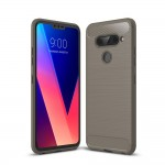 LG V40 ThinQ Carbon Fiber Калъф и Протектор