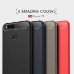 Huawei Honor 7X Carbon Fiber Калъф и Протектор