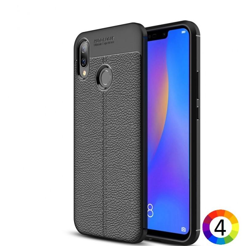 Huawei P Smart+ / nova 3i Удароустойчив Litchi Skin Калъф и Протектор