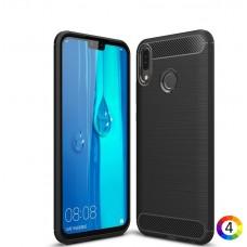 Huawei Y9 (2019) / Enjoy 9 Plus Удароустойчив Carbon Fiber Калъф и Протектор