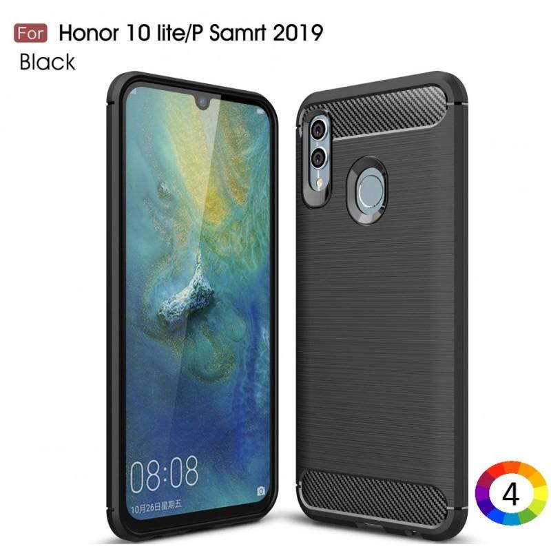 Huawei Honor 10 Lite / Huawei P Smart (2019) Carbon Fiber Калъф и Протектор