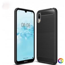 Huawei Y6 Pro (2019) Удароустойчив Carbon Fiber Калъф и Протектор