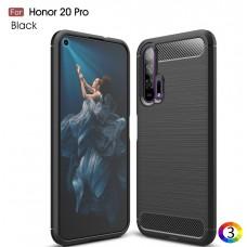 Huawei Honor 20 Pro Удароустойчив Carbon Fiber Калъф и Протектор