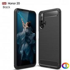 Huawei Honor 20 Удароустойчив Carbon Fiber Калъф и Протектор