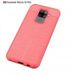 Huawei Mate 30 Lite/nova 5i Pro Удароустойчив Litchi Skin Калъф и Протектор