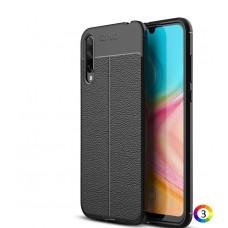 Huawei Honor 20 Lite Удароустойчив Litchi Skin Калъф и Протектор