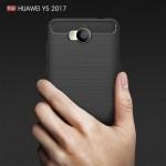 Huawei Y5 / Y6 (2017) Удароустойчив Carbon Fiber Калъф и Протектор