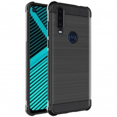 Motorola P40 Power/One Action Удароустойчив IMAK Carbon Fiber Калъф и Протектор
