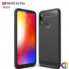 Motorola Moto E6 Plus Carbon Fiber Калъф и Протектор