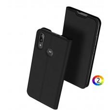 Motorola Moto E6 Plus DUX DUCIS Кожен Калъф и Протектор
