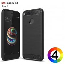 Xiaomi Mi A1 5X Удароустойчив Carbon Fiber Калъф и Протектор