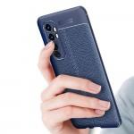 Xiaomi Mi Note 10 Lite Удароустойчив Litchi Skin Калъф и Протектор