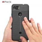 Google Pixel 3a Удароустойчив Litchi Skin Калъф и Протектор