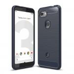 Google Pixel 3a Удароустойчив Carbon Fiber Калъф и Протектор