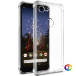Google Pixel 3a XL Удароустойчив IMAK Силиконов Калъф и Протектор
