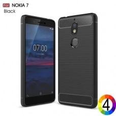 Nokia 7 Удароустойчив Carbon Fiber Калъф и Протектор
