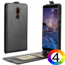 Nokia 7 plus Flip2  Кожен Калъф и Скрийн Протектор