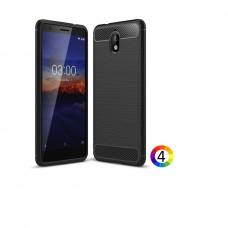 Nokia 3.1 / Nokia 3 2018 Удароустойчив Carbon Fiber Калъф и Протектор
