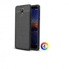 Nokia 3.1 / Nokia 3 2018 Удароустойчив Litchi Skin Калъф и Протектор
