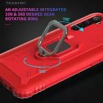 OPPO Realme 6S Удароустойчив Carbon Fiber/Ring Holder Калъф и Протектор