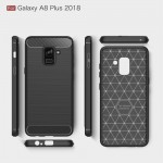 Samsung Galaxy A8 Plus (2018) Удароустойчив Carbon Fiber Калъф и Протектор