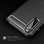 Sony Xperia 10 II Удароустойчив Carbon Fiber Калъф и Протектор