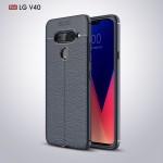 LG V40 ThinQ  Удароустойчив Litchi Skin Калъф и Протектор