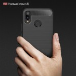Huawei P Smart+ / nova 3i  Удароустойчив Carbon Fiber Калъф и Протектор