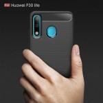 Huawei P30 Lite Удароустойчив Carbon Fiber Калъф и Протектор