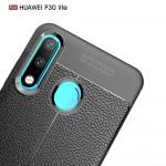 Huawei P30 Lite Удароустойчив Litchi Skin Калъф и Протектор