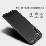 Huawei Honor 20 Lite Удароустойчив Carbon Fiber Калъф и Протектор