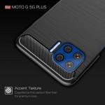 Motorola Moto G 5G Plus Удароустойчив Carbon Fiber Калъф и Протектор