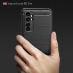 Xiaomi Mi Note 10 Lite Удароустойчив Carbon Fiber Калъф и Протектор