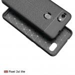 Google Pixel 3a XL Удароустойчив Litchi Skin Калъф и Протектор